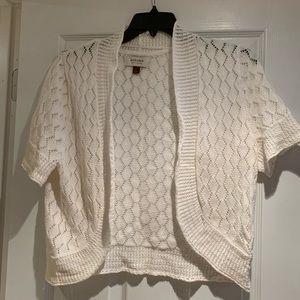 Sonoma White Knit Shrug